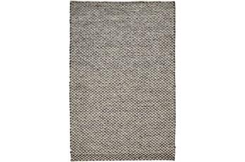 42X66 Rug-Textured Wool Lineal Grey