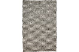 114X162 Rug-Textured Wool Lineal Grey