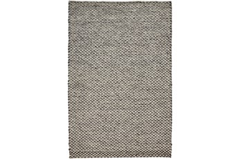 114X162 Rug-Textured Wool Lineal Grey