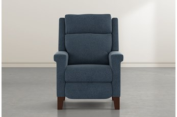 Jayden Denim Power Recliner With Power Headrest