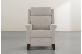 Jayden Linen Power Recliner With Power Headrest