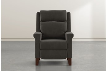Jayden Dark Grey Power Recliner With Power Headrest