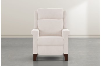 Jayden Ivory Power Recliner With Power Headrest