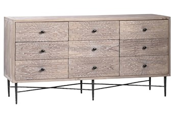 "9 Drawer Pine 63"" Sideboard"