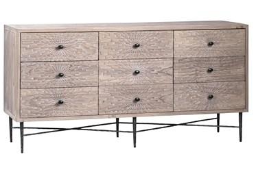 """9 Drawer Pine 63"""" Sideboard"""