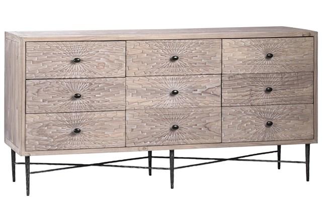 """9 Drawer Pine 63"""" Sideboard  - 360"""