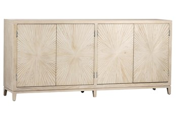 4 Door White Wash Tapered Sideboard