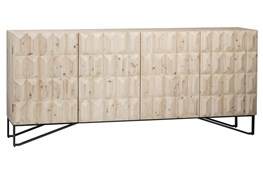 4 Door White Wash 3D Sideboard