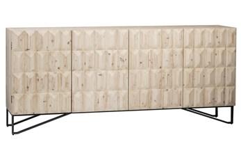 4 Door White Wash 3D Sideboard