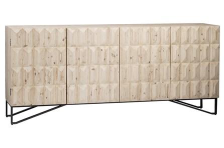 4 Door White Wash 3D Sideboard - Main