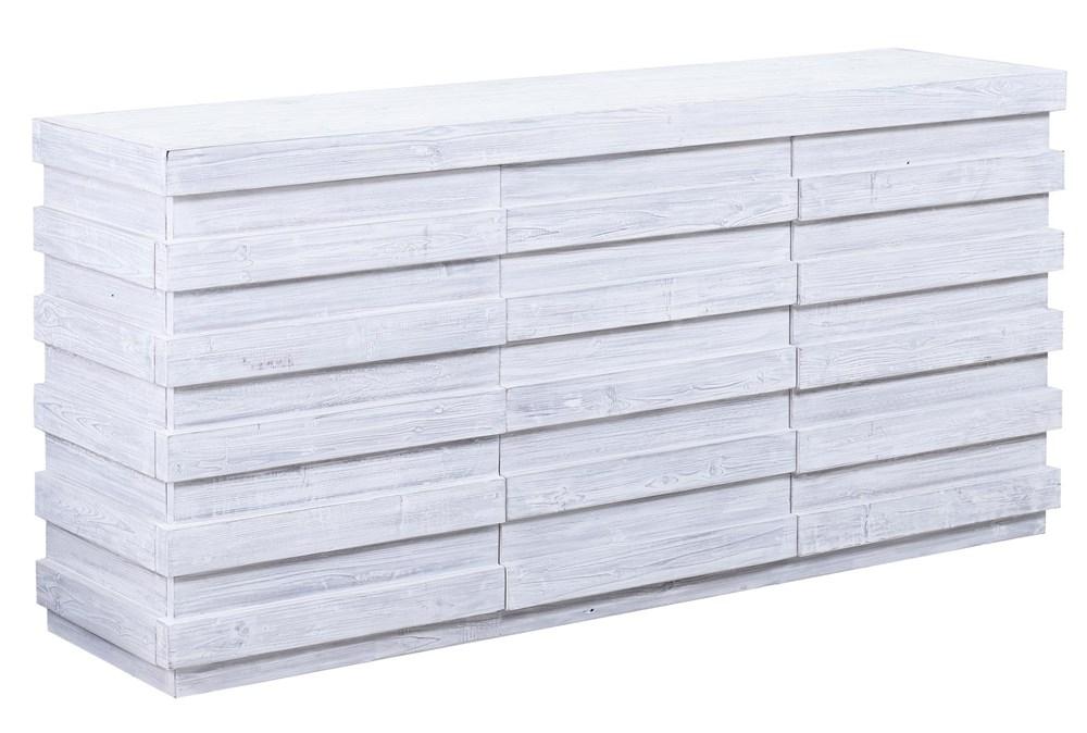 "White Wash Plinth 3 Dimensional 72"" Sideboard"
