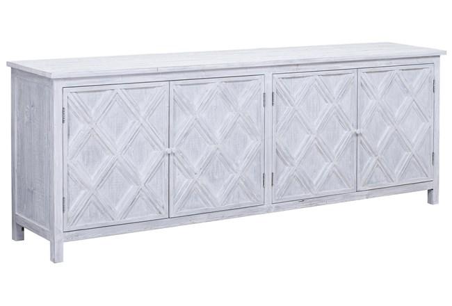 "White Wash Reclaimed Pine Diamond Pattern 94"" Sideboard  - 360"