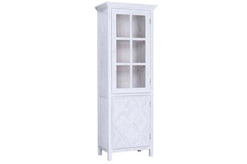White Wash Reclaimed Pine Tall Cabinet