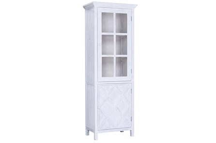 White Wash Reclaimed Pine Tall Cabinet - Main