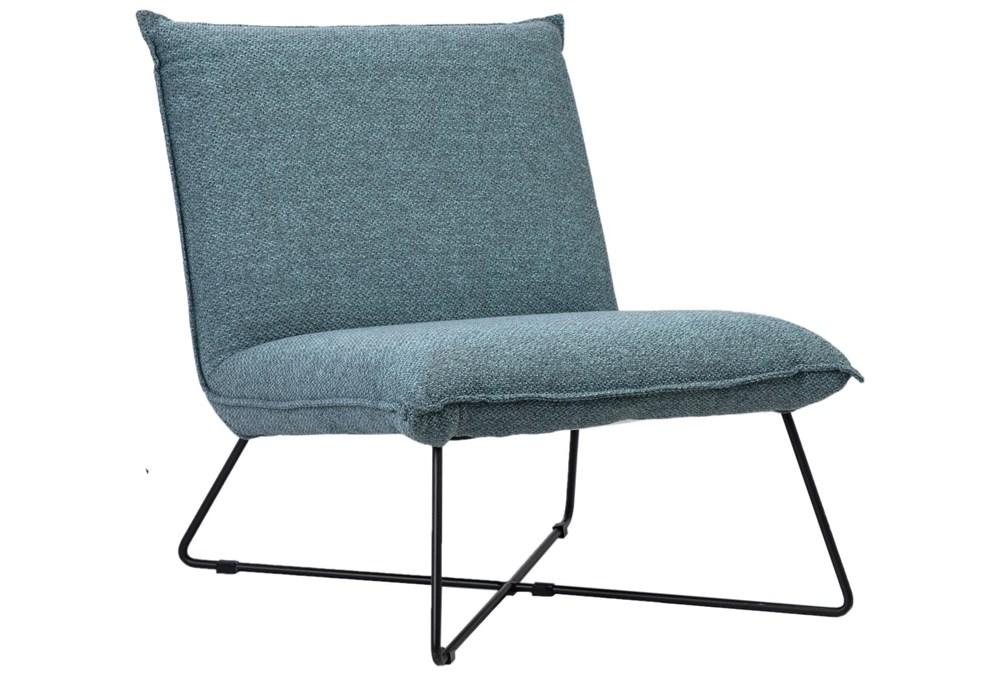 Light Blue Armless Accent Chair