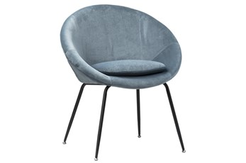 Ice Blue Coccoon Dining Chair