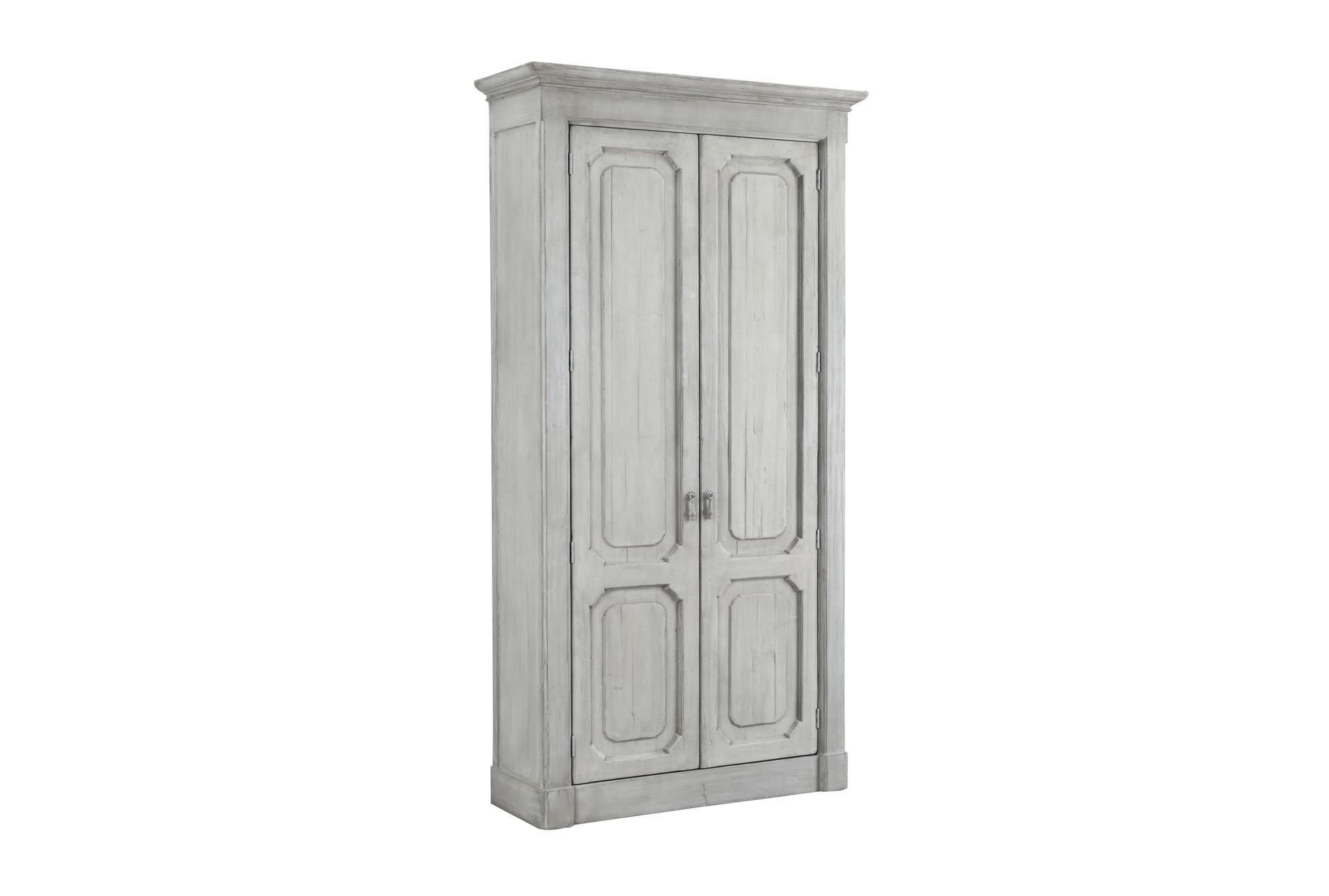 White Wash Recycled Pine Tall Cabinet | Living Spaces