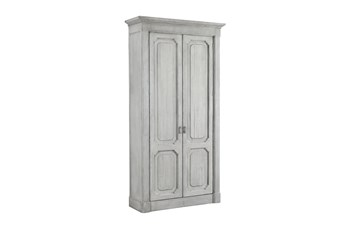 White Wash Recycled Pine Tall Cabinet