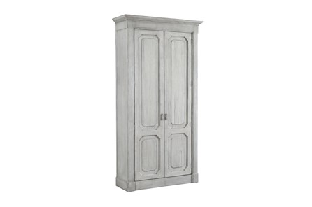 White Wash Recycled Pine Tall Cabinet - Main
