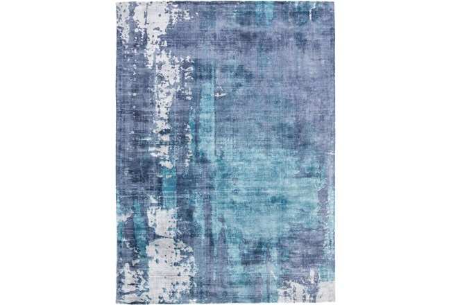 60X96 Rug-Contemporary Luxe Sheen Ocean - 360