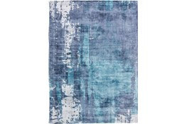 96X120 Rug-Contemporary Luxe Sheen Ocean