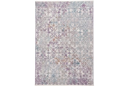 60X96 Rug-Multi Faded Transitional Purple