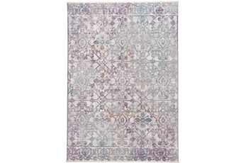 94X120 Rug-Multi Faded Transitional Purple