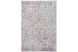 27X96 Rug-Multi Faded Transitional Purple