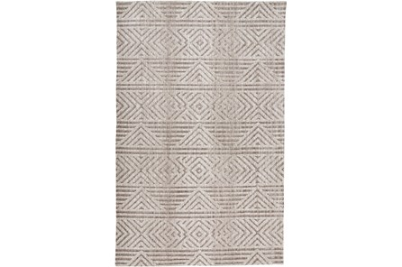 42X66 Rug-Micro Fiber Geometric Brown