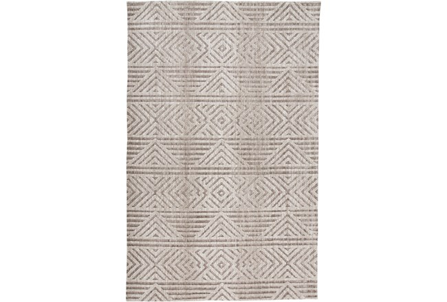 96X120 Rug-Micro Fiber Geometric Brown - 360