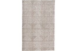 114X162 Rug-Micro Fiber Geometric Brown
