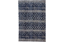 96X120 Rug-Micro Fiber Tribal Denim