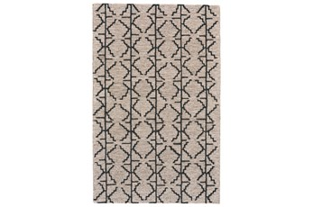 114X162 Rug-Tribal Geometric Charcoal/Grey
