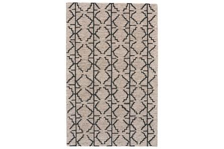 114X162 Rug-Tribal Geometric Charcoal/Grey