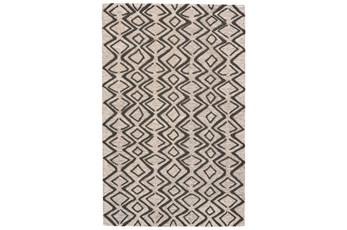 60X96 Rug-Tribal Geometric Charcoal/Taupe