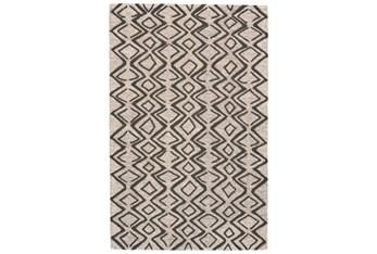 5'x8' Rug-Tribal Geometric Charcoal/Taupe