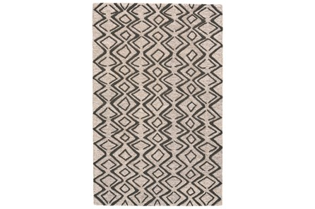 96X132 Rug-Tribal Geometric Charcoal/Taupe