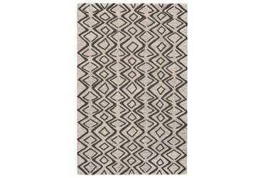 8'x11' Rug-Tribal Geometric Charcoal/Taupe