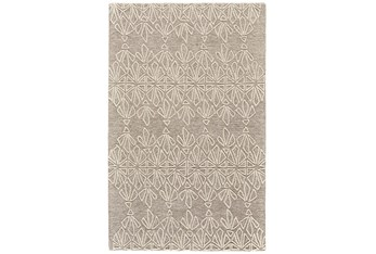 """3'5""""x5'5"""" Rug-Tribal Floral Ivory/Taupe"""