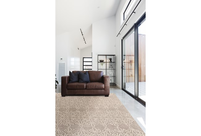 5'x8' Rug-Tribal Floral Ivory/Taupe - 360