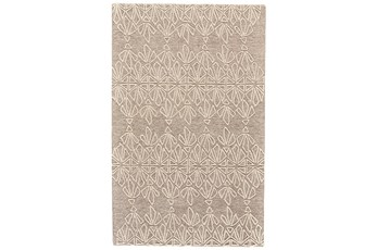 60X96 Rug-Tribal Floral Ivory/Taupe