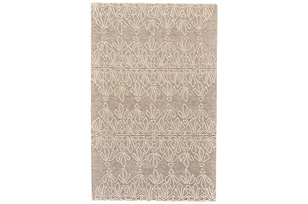 96X132 Rug-Tribal Floral Ivory/Taupe