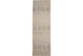 """2'5""""x8' Rug-Tribal Floral Ivory/Taupe"""