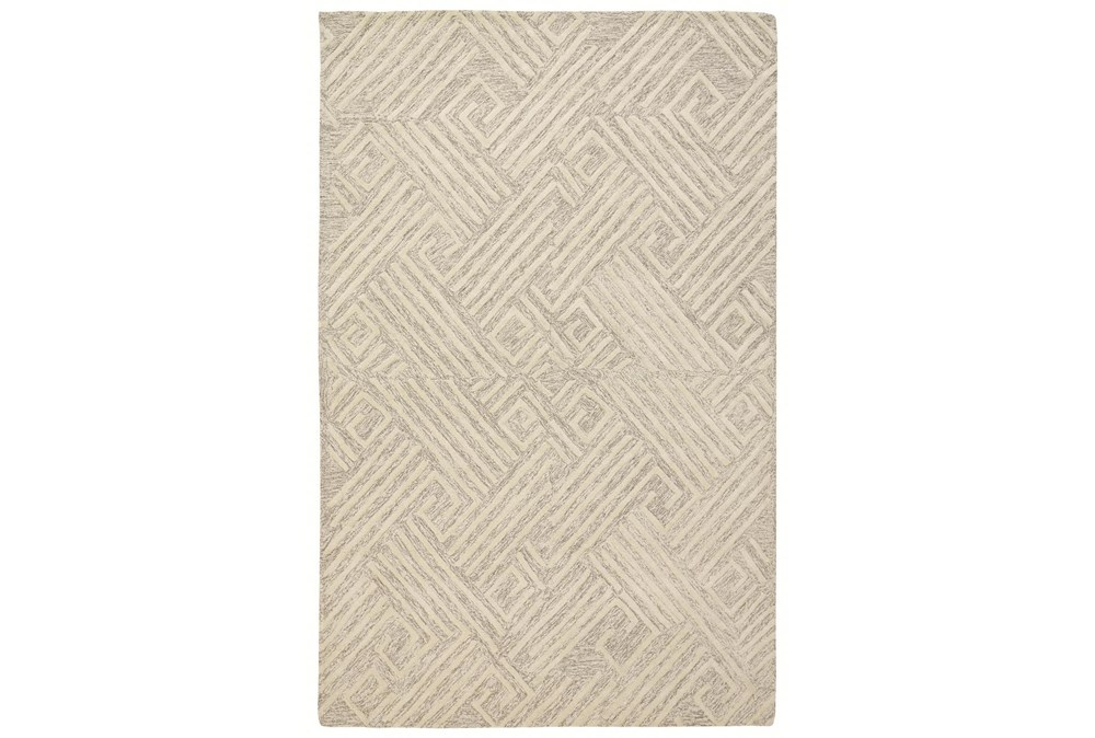 5'x8' Rug-Tribal Lines Ivory/Natural