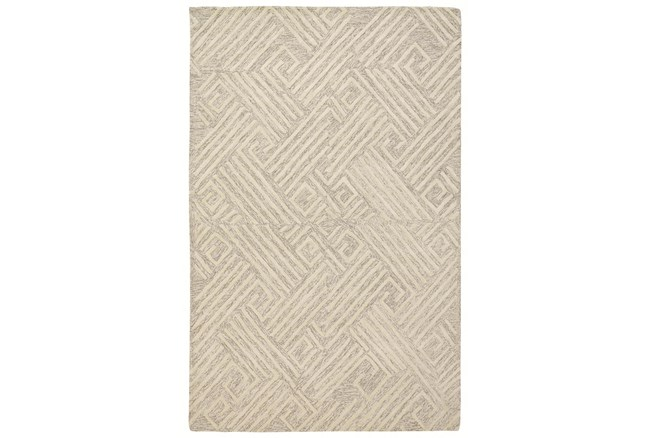 5'x8' Rug-Tribal Lines Ivory/Natural - 360