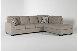 Seren Driftwood 2 Piece Sectional With Right Arm Facing Chaise