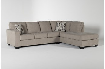 "Seren Driftwood 2 Piece 110"" Sectional With Right Arm Facing Chaise"