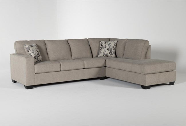 Seren Driftwood 2 Piece Sectional With Right Arm Facing Chaise - 360