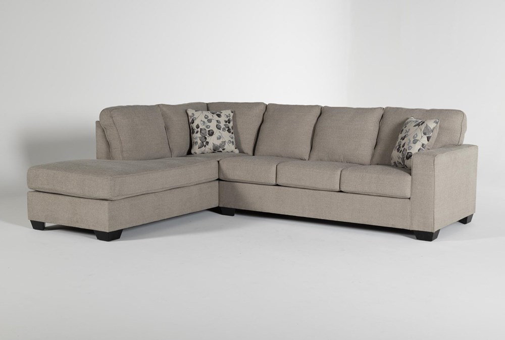 Seren Driftwood 2 Piece Sectional With Left Arm Facing Chaise