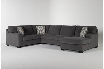 Bryton Charcoal 3 Piece Sectional With Right Arm Facing  Chaise